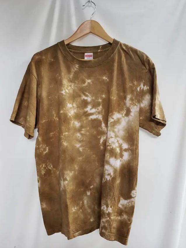 ムラ染めTシャツ小麦色