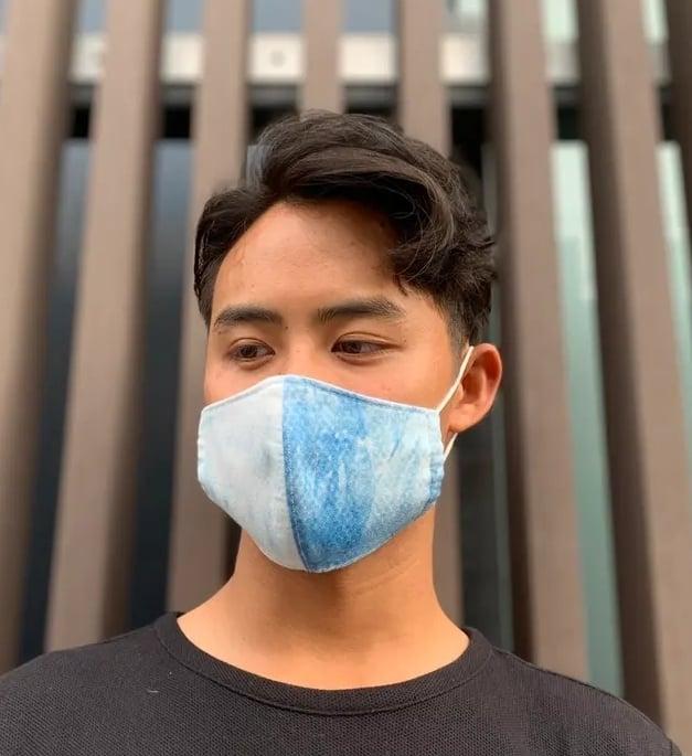 ムラ染めマスク(不織布)